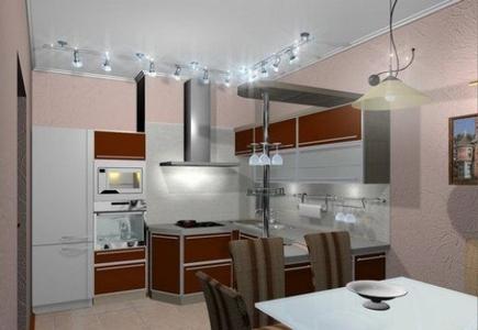 LED светильники для кухни на никелированной штанге