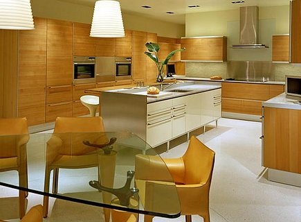 Кухня в стиле модерн: дерево в интерьере