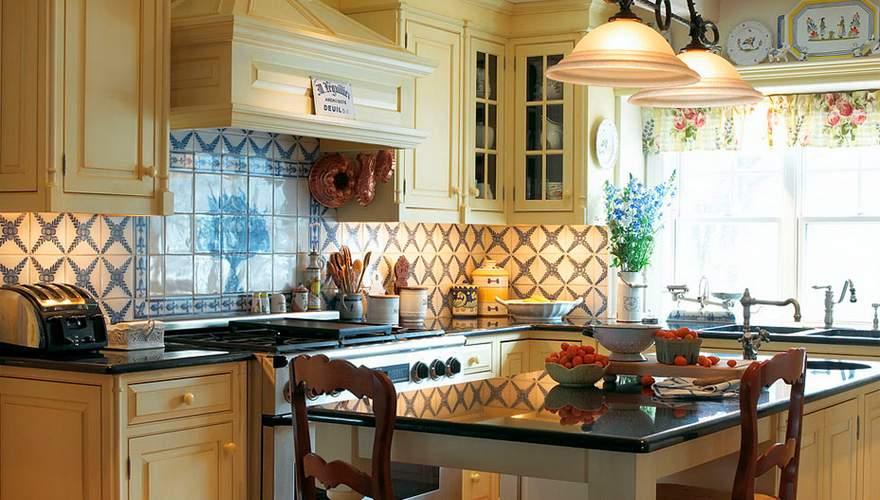 Кухня в стиле прованс: фото интерьера