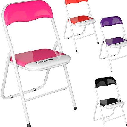 Складные стулья для кухни на металлическом каркасе