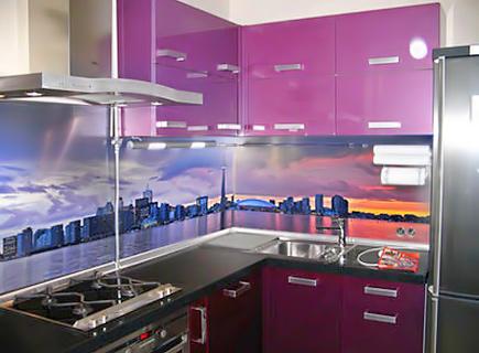 Столешницы для кухни из ДСП в сочетании с фартуком