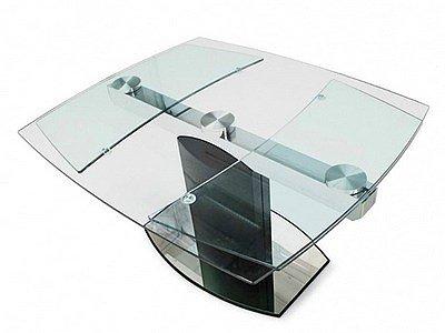 Стол-трансформер для кухни из стекла
