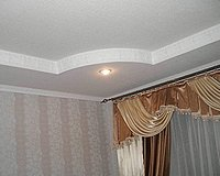 Монтаж двухуровневых потолков из гипсокартона