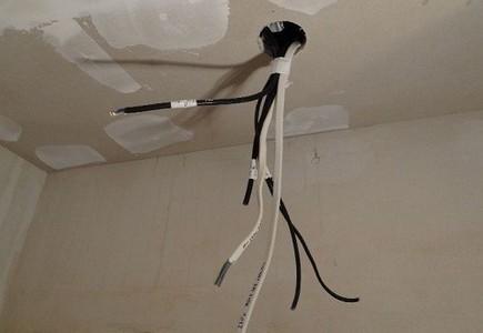 Монтаж двухуровневых потолков из гипсокартона – проводка