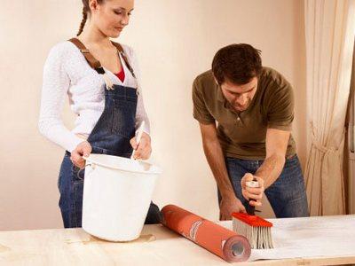 Моющиеся обои для кухни требуют специального клея