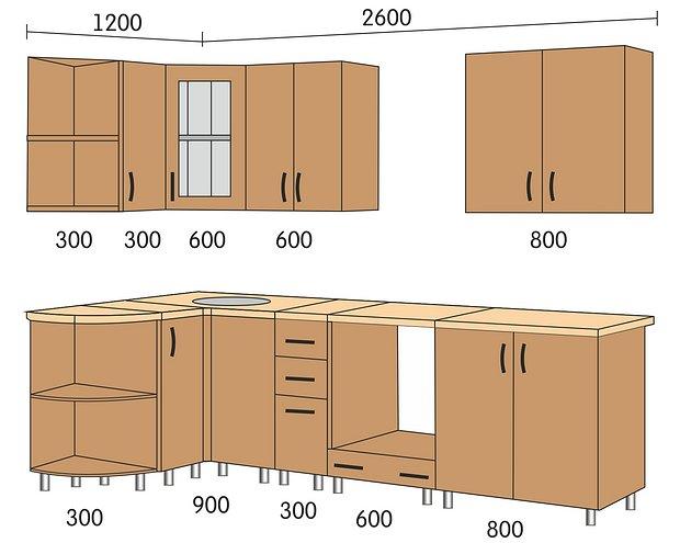 модульные кухни эконом класса