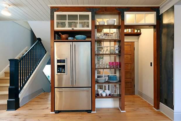 создание интерьера кухни в частном доме