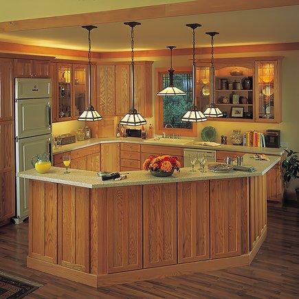 Подвесные светильники для кухни над рабочей зоной