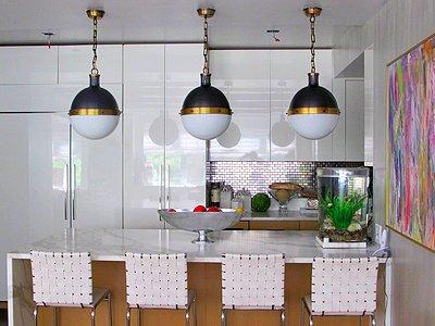 Подвесные светильники для кухни в форме шара