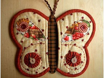 Прихватки для кухни своими руками - бабочка