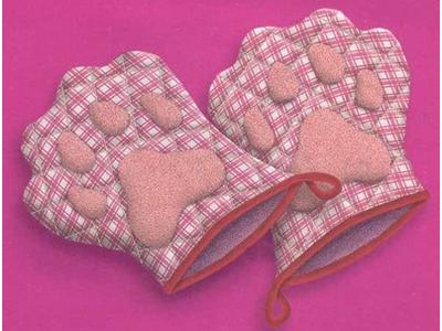 Прихватки-лапки для кухни своими руками
