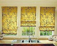 Римские шторы для кухни классические