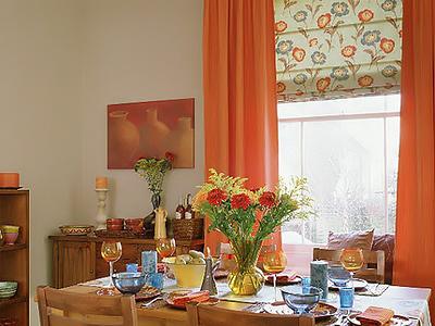 Шторы для кухни своими руками рулонные с цветочным орнаментом