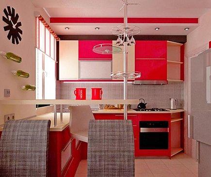 Сочетание цветов в интерьере кухни – использование теплых тонов