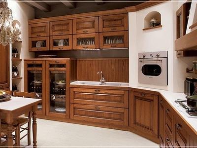 Кухни классика из дерева