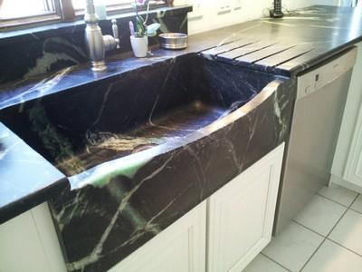 Кухни классика - мойка из мыльного камня