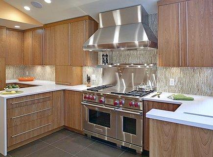 Дерево кухне для стиля модерн