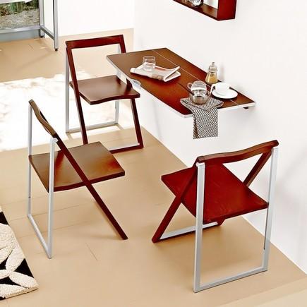 Деревянные складные стулья для кухни из Икеа