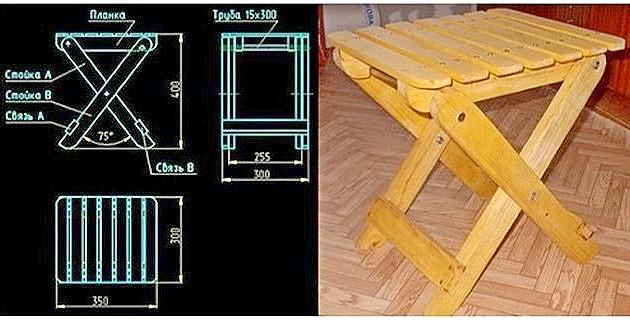 Складные стулья для кухни из дерева своими руками