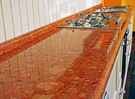 Столешница для кухни из ДСП с ламинированной поверхностью