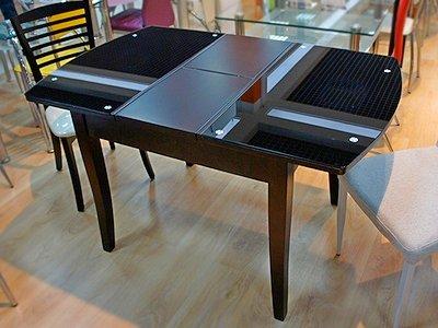 Стол-трансформер для кухни из разных материалов
