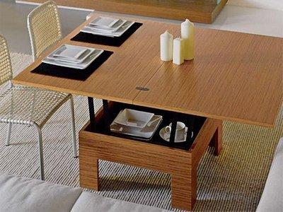 Стол-трансформер для кухни совмещенной с гостиной