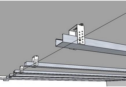 Монтаж двухуровневых потолков из гипсокартона – металлопрофили