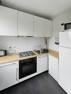 П-образная планировка на маленькой кухне