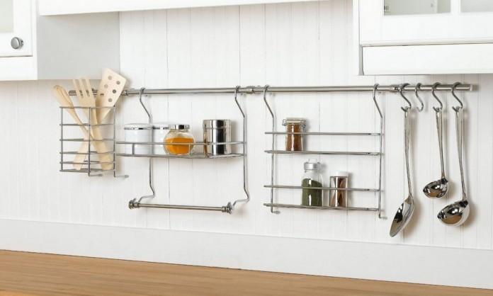 Как расположить рейлинги для кухни: виды, правила установки, видео монтажа